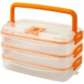 VacMultiHandy Rectangular 1200ml x3 Vacuum Food Storage Containers Set