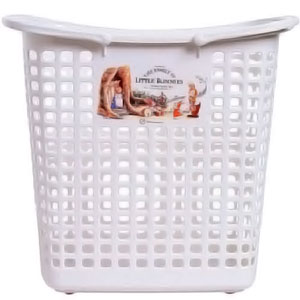 White Little Bunnies Laundry Basket