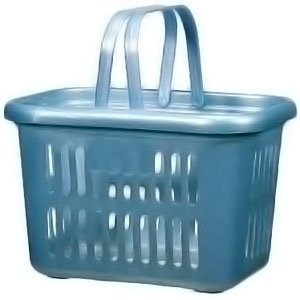 Light Blue Sharon Bath Basket